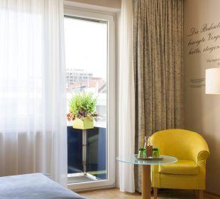 Balkon und Blick in den grünen Hof! RUHE! Das Capri.Ihr Wiener Hotel