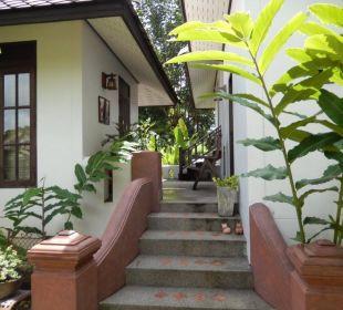 Eingangsbereich Familien Bungalow Hotel Baan Chai Thung