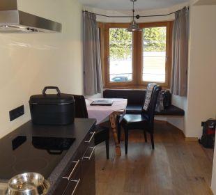 Küchenzeile mit Essecke Hotel Karwendelhof
