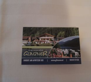 Visitenkarte Hotel Fischerhof Glinzner