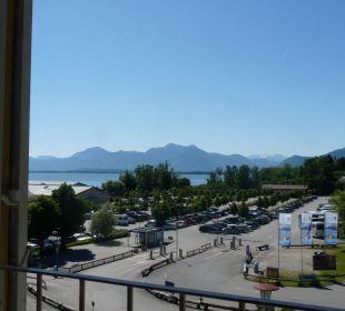 Blick vom Haus 2 auf den See und die Berg Hotel Luitpold am See 1&2