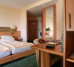 Das Zimmer von der Sitzecke aus. Ringhotel Roggenland