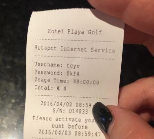 WLAN im Zimmer Hotel Playa Golf