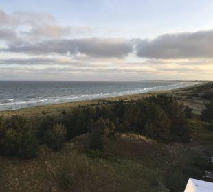 Blick auf Dünen und Ostsee Strandhotel Dünenmeer