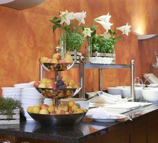 Kleiner Teil unseres leckeren Frühstücksbuffet Das Hotel Eden