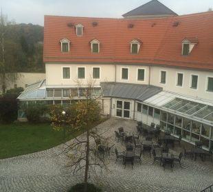 Wintergarten zum Restaurant Hotel Schloss Schweinsburg