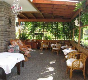 Überdachte Terrasse Hotel Garni Malerwinkl