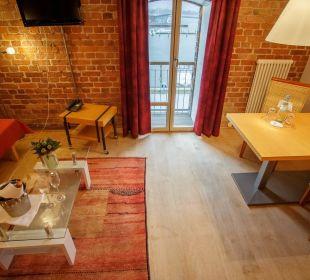 Doppelzimmer Standard Wohnraum Speicher Barth  Designhotel