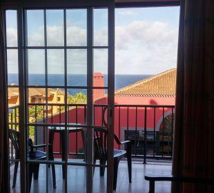 Blick auf den Balkon Hotel Las Olas