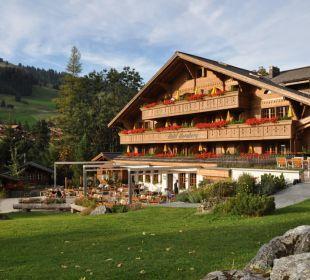 Die Sonnenterrasse und unsere neue Fassade. Romantik Hotel Hornberg