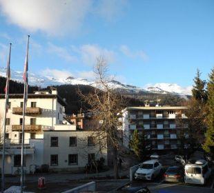 Sicht vom 1. Stockwerk Hotel Laudinella