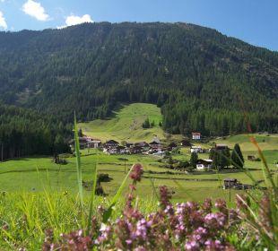 Blick auf Köfels Alpengasthof Köfels