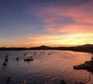 Sonnenuntergang vom Balkon Hotel Simbad