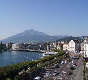 Ausblick Hotel Schweizerhof Luzern