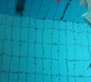 Scharfkantige Metallecken im Wasser Familotel Hotel Sonnenhügel