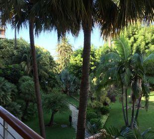 Ausblick Zimmer 152 auf Garten Hotel Botanico
