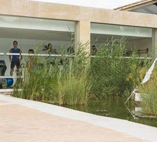 Blick aufs Fitnessstudio  allsun Hotel Eden Playa