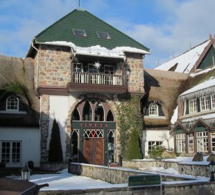 Hoteleingang Hotel Forsthaus Damerow