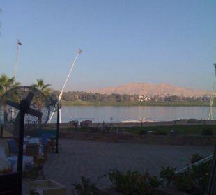 Blick von Terrasse Achti Resort Luxor
