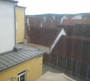 Blick aus dem Fenster Stadthotel Pinkafeld