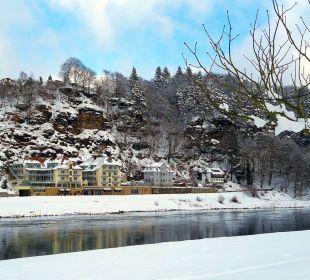Winter im Kurort Rathen Hotel Elbschlösschen