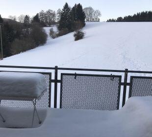 Ausblick aus Balkon Hotel Bayerischer Wald