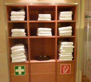 Handtücher im Spa Altstadthotel und Residenz Wolf-Dietrich