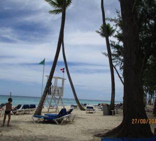 Am Strand vorm Hotel Hotel Vista Sol Punta Cana