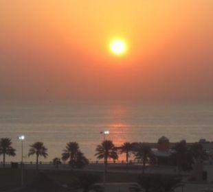 Sonnenaufgang, Blick aus Restaurant im 9. Stock Ramada Hotel & Suites Al Khobar