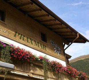 Außenansicht Alpengasthof Pension Praxmar
