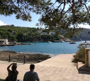 Blick von der Gartenanlage aufs  Meer  Olimarotel Gran Camp de Mar