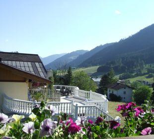 Blick vom Balkon der Giebelwohnung Haus Elisabeth