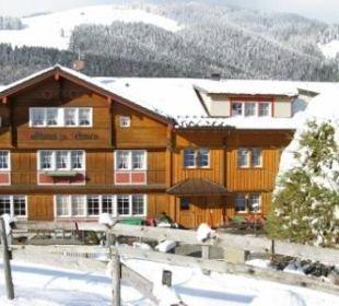 Lehmen im Winter Hotel Waldgasthaus Lehmen
