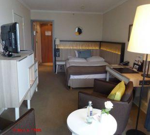 Blick vom Balkon ins Zimmer Hotel Neptun