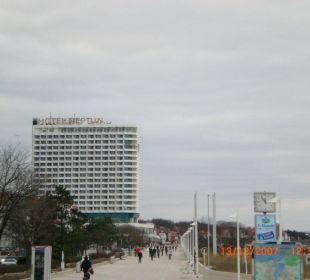 Vom Leuchturm Richtung Hotel Hotel Neptun