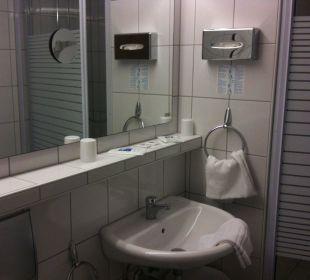 Ein Badezimmer  Hotel Rheinlust