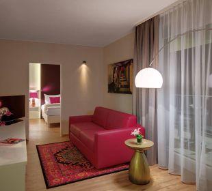 Penthouse Suite Wohnbereich Amedia Luxury Suites Graz