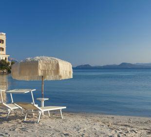 View from the beach Hotel Gabbiano Azzurro