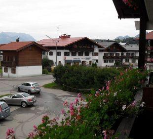 Aussicht vom Zimmer Gästehaus Flora