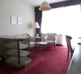 Blick zur Terrasse Hotel Panhans