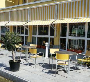 Neue Frühstücksterrasse Inselhotel Rügen B&B