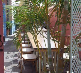 Cafeteria für Frühstück, nachmittags und abends Hotel Hacienda de Abajo
