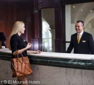 Réception Hotel El Mouradi Palm Marina