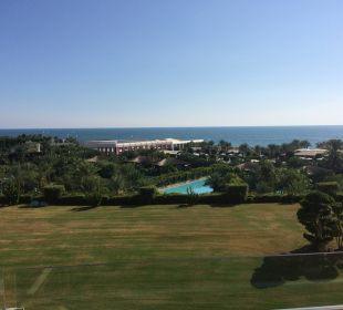 Blick vom Zimmer mit Meerblick Maxx Royal Belek Golf Resort