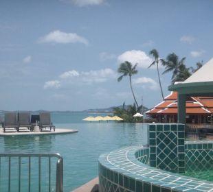 Blick auf Pool und Strandbereich Samui Buri Beach Resort & Spa