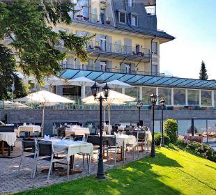 Bewirtung im Aussenbereich Belvédère Strandhotel