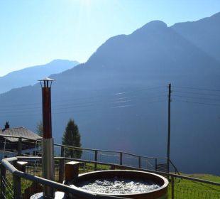 Hotpot (Badefass) mit herrlicher Aussicht Gasthaus Alpina