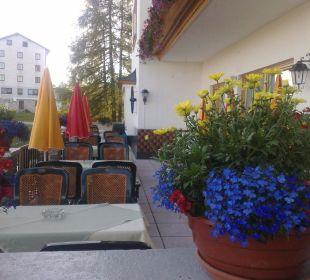 Aussenterrasse Hotel Alpenrose