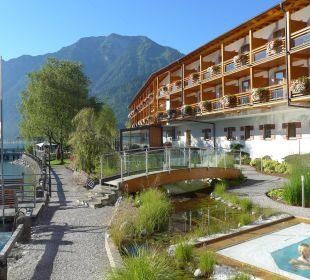 Garten mit Whirlpool Hotel Travel Charme Fürstenhaus Am Achensee