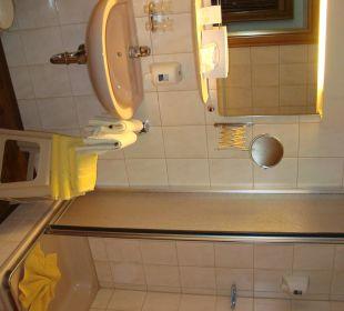 Kleines Dusch-Bad im Appartement Hotel Mühlenhof
